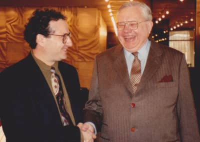 Dr. Moss with Harry Berghold, US Ambassador to Hungary