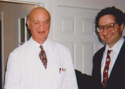 Dr. Moss with Dr. Gaston Naessens, Quebec