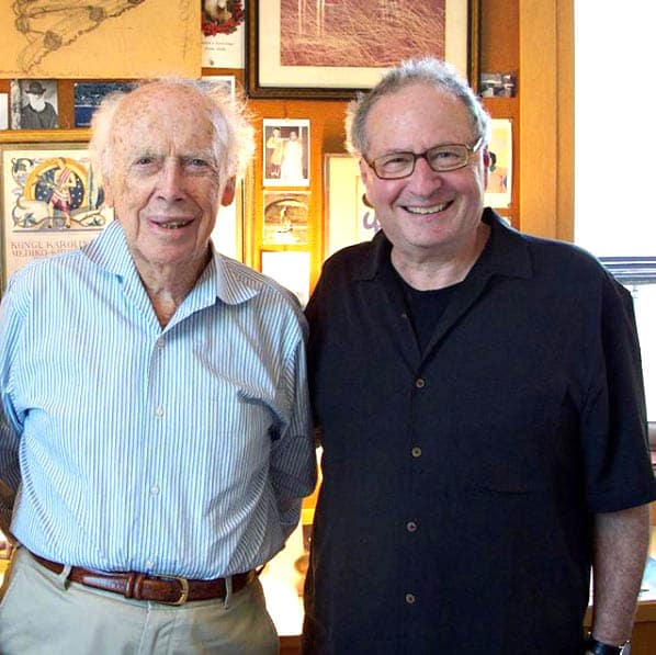 Photo of Ralph W. Moss, PhD and Dr. James Watson
